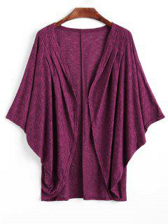 Batwing Sleeve Coccon Cardigan - Violet Rose L