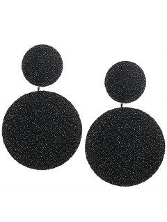 Vintage Round Layered Earrings - Black