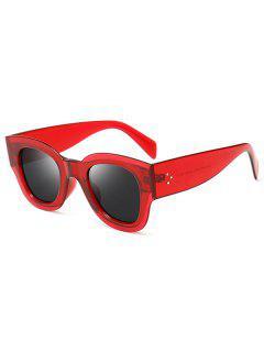 Anti UV Butterfly Shape Full Frame Sunglasses - Red