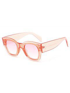 Anti UV Butterfly Shape Full Frame Sunglasses - Orangepink