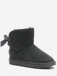 Slip On Bowknot Snow Boots - Gray 36