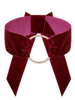Collier Ras Du Cou Vintage En Velours - Rouge