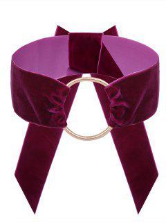Collar De Gargantilla De Terciopelo Vintage - Sangria