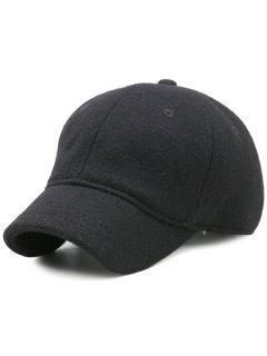 Lines Embroidered Nostalgic Color Baseball Hat - Black