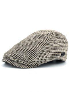 Simple Corn Shape Embellished Duckbill Hat - Beige