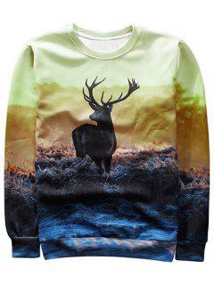 Antelope Graphic Crew Neck Sweatshirt - M
