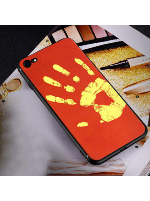 Caja suave sensible al calor del teléfono para Iphone - Rojo PARA IPHONE 6 / 6S Mobile