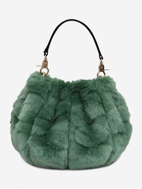 Multifunktions-Fuzzy-Handtasche - GREEN  Mobile