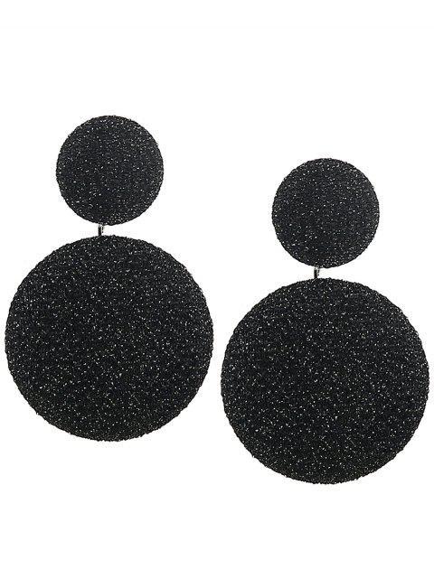 Boucles d'Oreilles Motif Ronds à Superposition Style Vintage - Noir  Mobile
