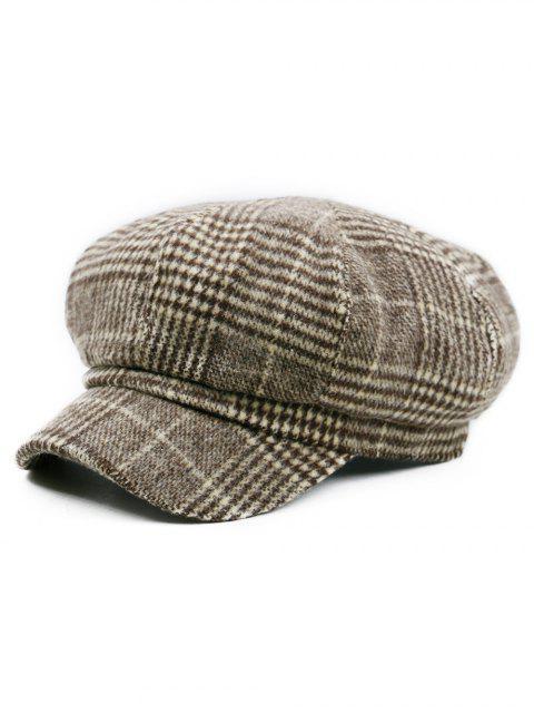 Patrón de pata de gallo embellecido Sombrero de vendedor de periódicos - Pattern B  Mobile