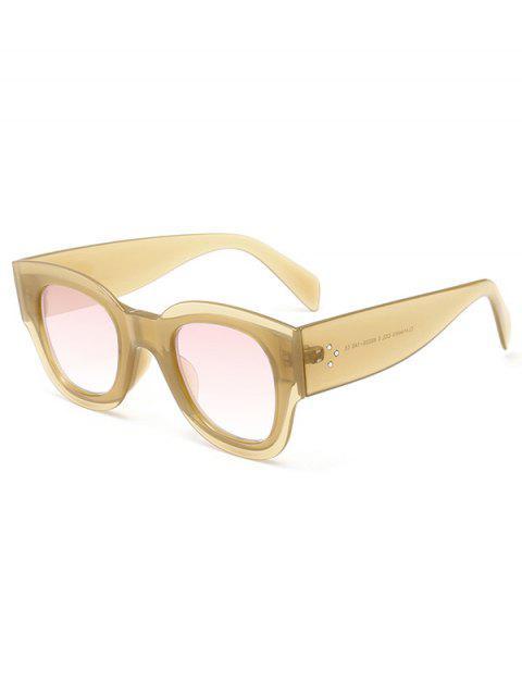 Anti UV Schmetterlings-Form-volle Rahmen-Sonnenbrille - Khaki  Mobile