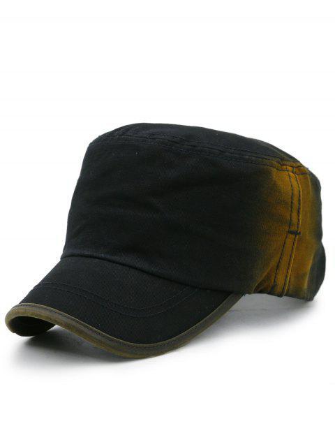 Sombrero Militar de Color Degradado con Bordado de Línea Simple - Negro  Mobile