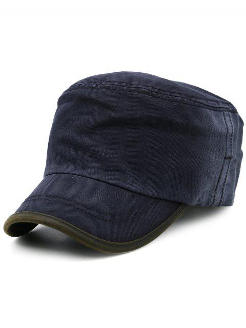 womens Line Embroidery Gradient Color Military Hat - CADETBLUE  Mobile