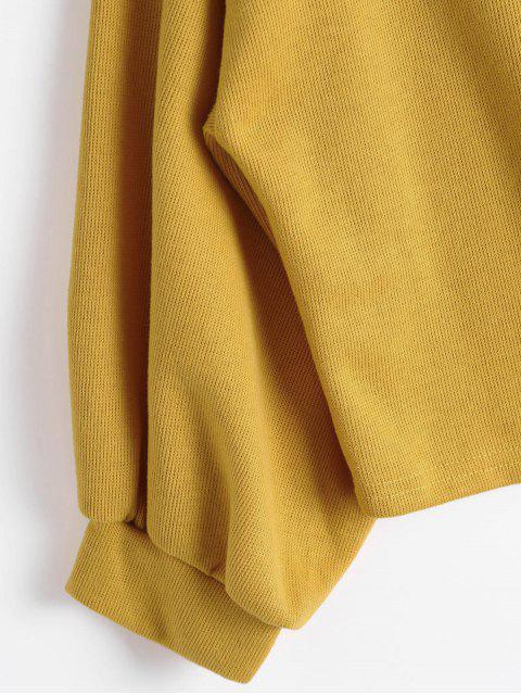 Lantern Sleeve Slash Neck Sweatshirt - Jengibre XL Mobile