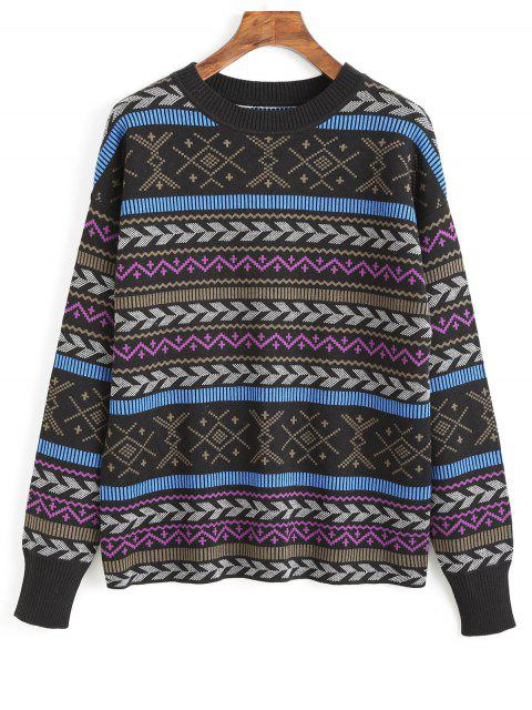 outfit Crew Neck Graphic Sweater - MULTI ONE SIZE(FIT SIZE XS TO M) Mobile