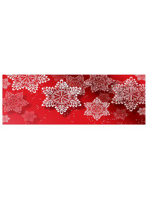 women's Christmas Snowflakes Pattern Water Absorption Area Rug - RED W24 INCH * L71 INCH Mobile