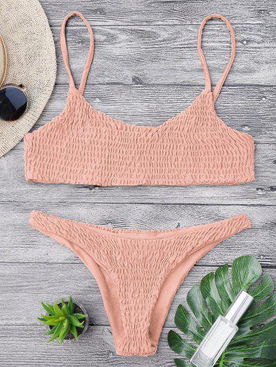 c636769e1f Smocked Bikini Top And Bottoms - Pink M HOT
