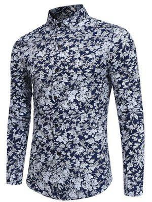 Long Sleeve Tiny Floral Printed Shirt