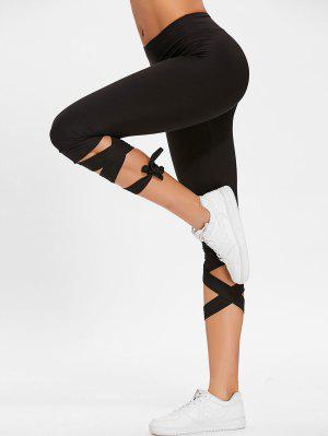Hoch taillierte Lace Up Gym Hose