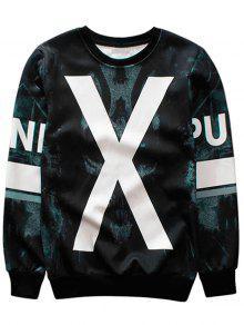 X Graphic Crew Neck Sweatshirt