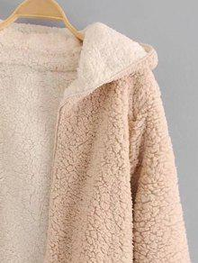 Hooded Open Front Lamb Wool Coat Apricot Jackets Amp Coats