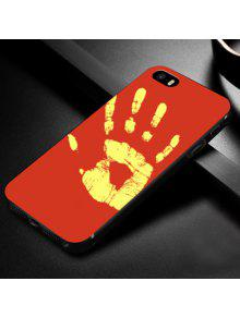 الحرارة الحساسة لينة حالة الهاتف لفون - أحمر ل Iphone 5 / 5s / Se