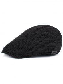Sombrero De Pico De Pato Adornados En Forma De Maíz Simple - Negro