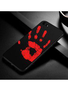 حالة حساسة للحرارة لينة الهاتف للحصول على اي فون - أسود آيفون 6 Plus / 6s Plus