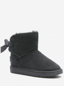 حذاء الثلوج سهل الارتداء مزين بفيونكة - رمادي 37