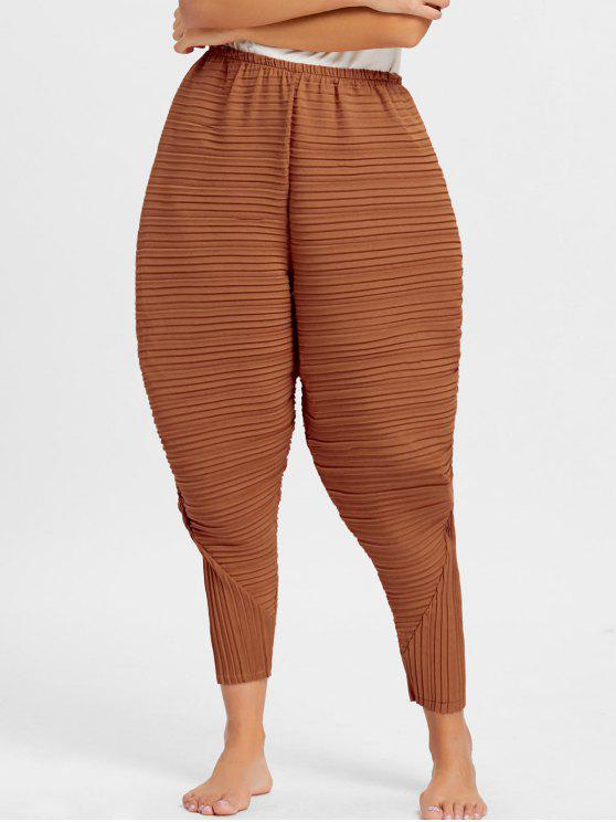 women Thanksgiving Chicken Drumsticks Pleated Pants - ORANGE S