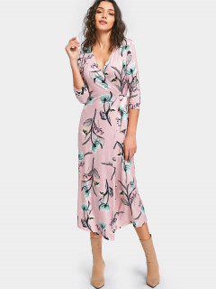 Vestido Estampado Con Estampado De Flores Y Estampado Floral - Floral S