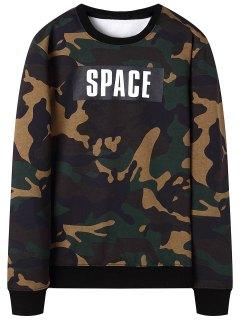 Camo Crew Neck Sweatshirt - Camouflage 3xl