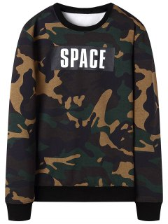 Camo Crew Neck Sweatshirt - Camouflage 2xl