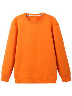 Rundhals-Wollmischung Sweatshirt - Orange  3xl