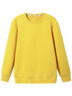 Crew Neck Wool Blend Sweatshirt - Yellow 3xl
