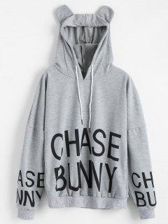 Cute Chase Bunny Hoodie - Gray S