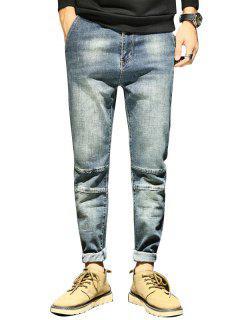 Tapered Fit - Zipper Mit Reißverschluss - Hellblau 34