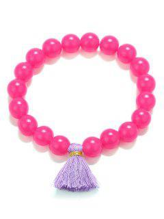 Bracelets Extensibles De Perle De Gland - Rose