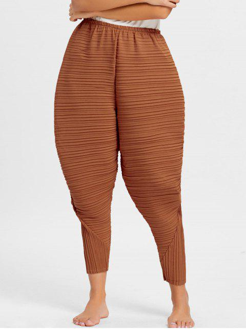 women's Thanksgiving Chicken Drumsticks Pleated Pants - ORANGE M Mobile