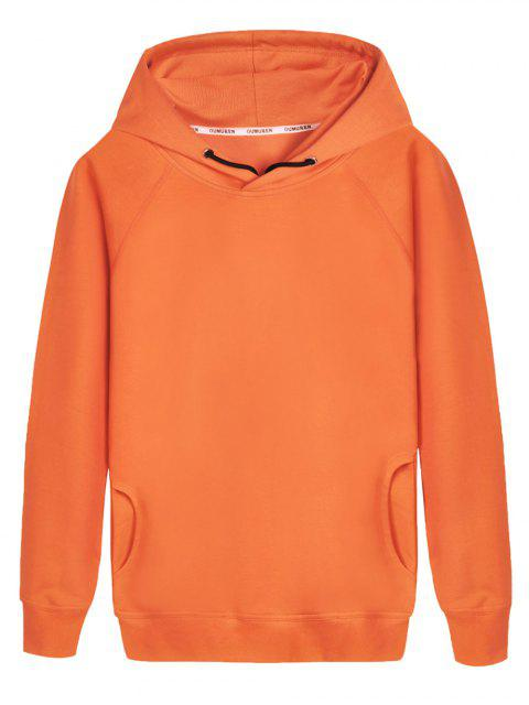 Pullover Raglanärmel Hoodie - orange  L Mobile