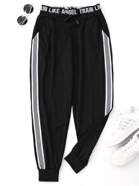 Pantalon Jogger Graphic Drawstring Yoga - Noir M Mobile