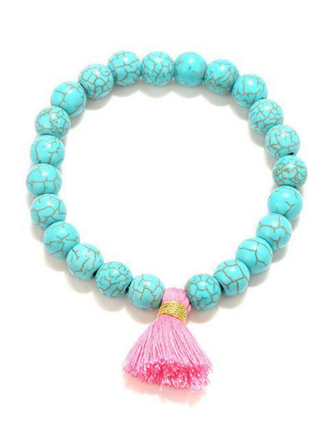 Tassel Bead Stretch Bracelets - Azul Turquesa  Mobile