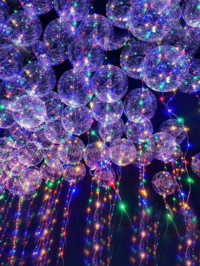 Image of Clear Balloon with LED String Lights