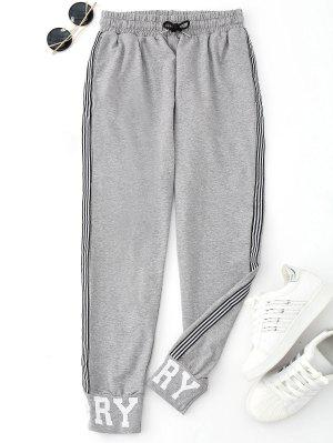 Graphic Drawstring Sporty Jogger Pants