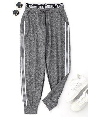 Pantalones de chándal con cordón gráfico de yoga