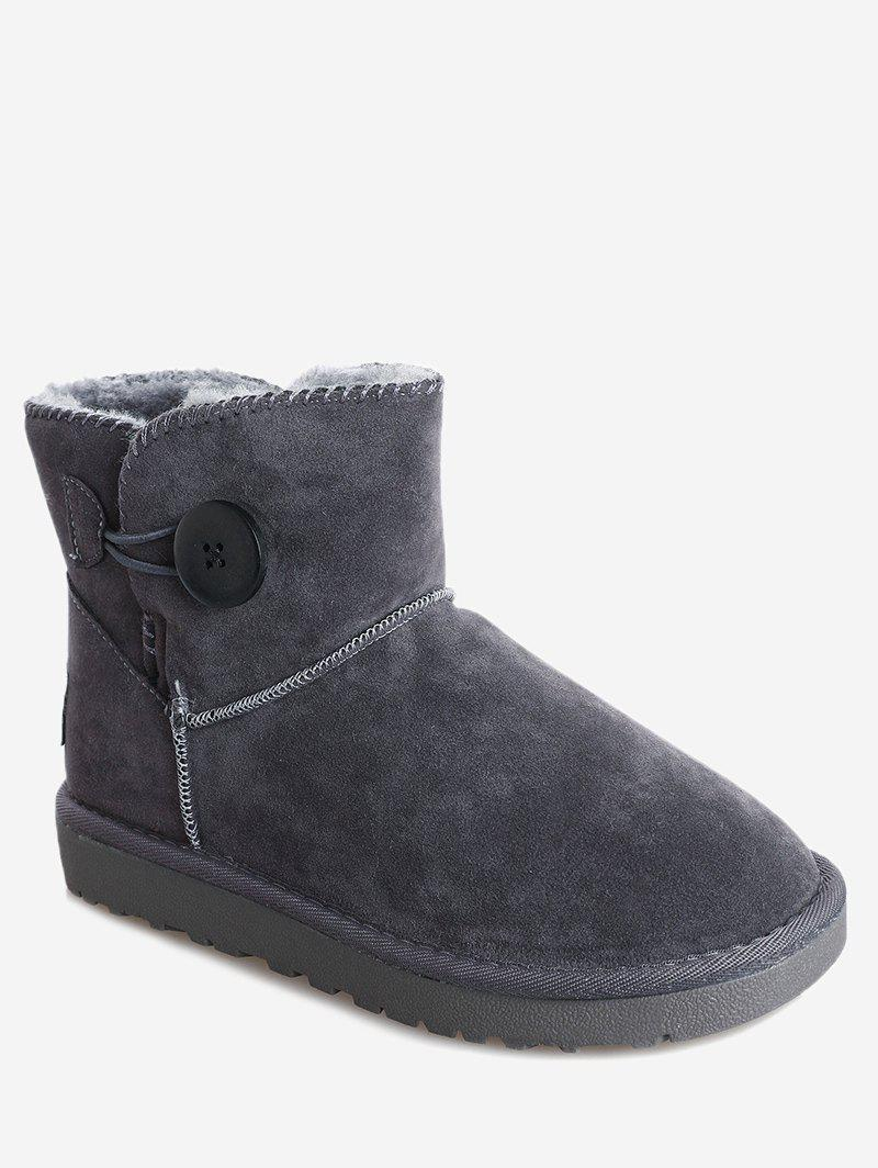 Fur Button Snow Boots 233891906