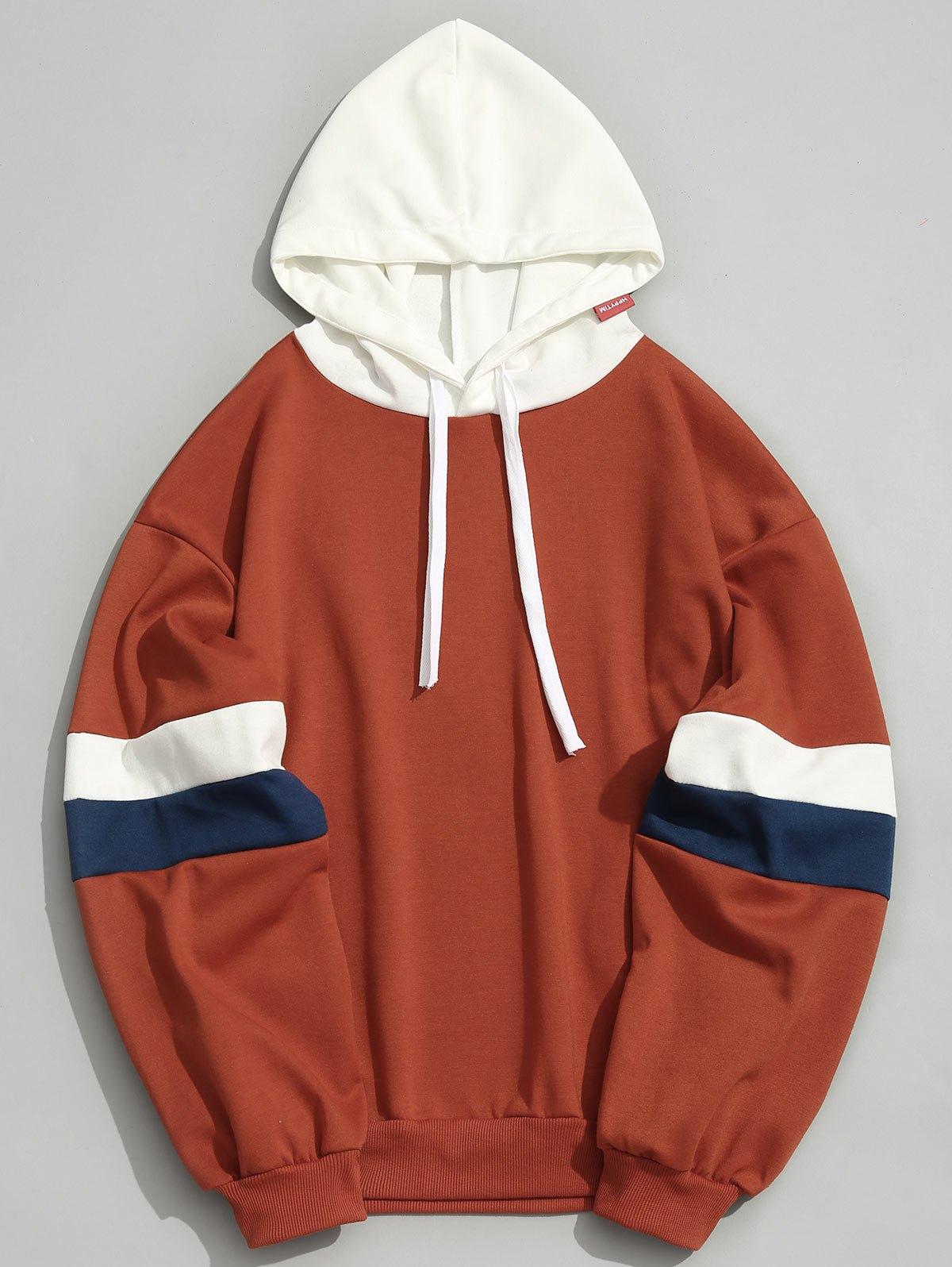 47% RABATT] 2020 Taschen Farbblock Hoodie Männer Kleidung In