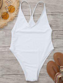 لباس سباحة من قطعة واحدة - أبيض S
