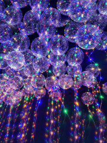 أضواء سلسلة ليد شفافة بالون - شفاف