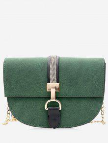 سلسلة معدنية مزين حقيبة كروسبودي - أخضر